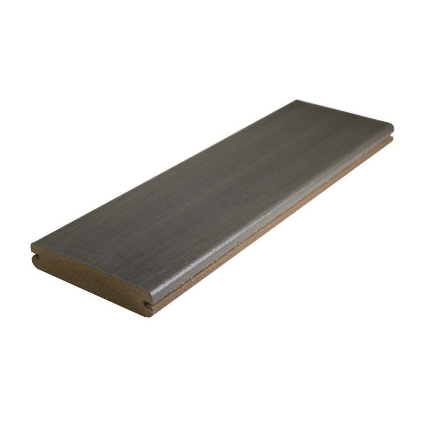 MoistureShield (Actual: 1-in x 5.4-in x 12-ft) Graystone Grooved Composite Deck Board