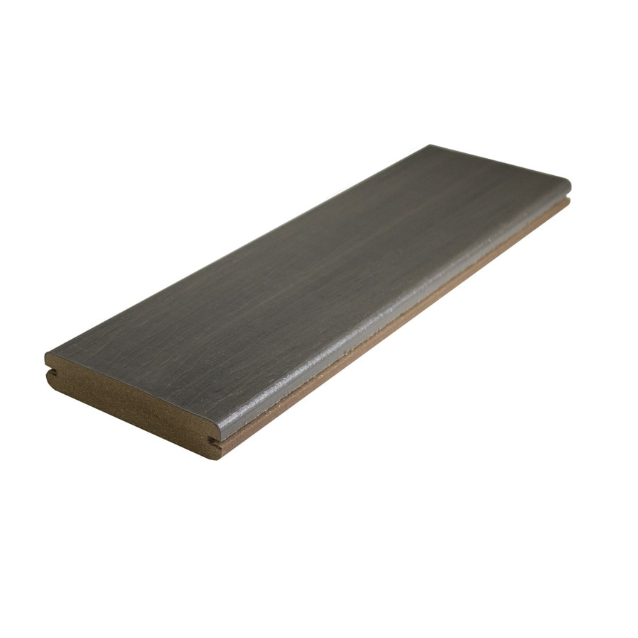 MoistureShield Graystone Groove Composite Deck Board (Actual: 1-in x 5.4-in x 20-ft)