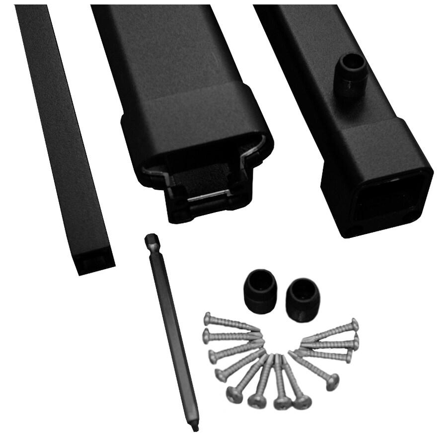 MoistureShield 2-Pack Black Aluminum Deck Handrails Common: 8-ft; Actual: 2.34-in x 1.85-in x 8-ft)