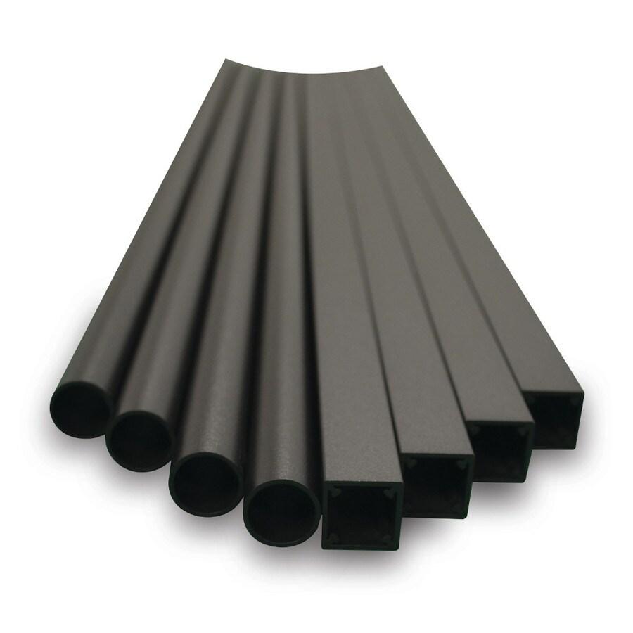 MoistureShield (Actual: 0.75-in x 0.75-in x 2.9583-in) Black Aluminum Deck Baluster