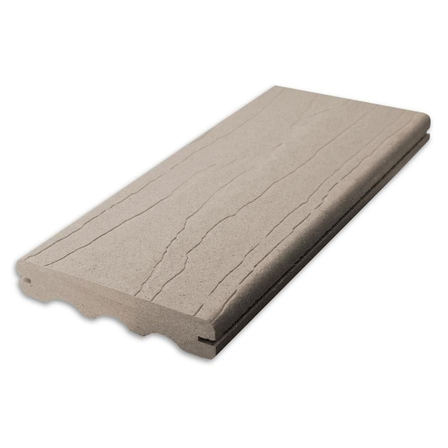 ChoiceDek Foundations (Actual: 1-in x 5.4-in x 12-ft) Foundations Beach House Gray Grooved Composite Deck Board