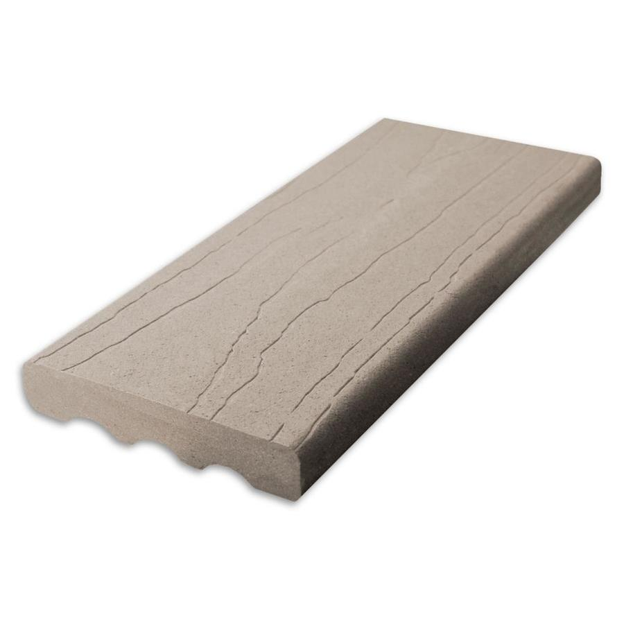 ChoiceDek (Actual: 1-in x 5.4-in x 16-ft) Foundations Beach House Gray Square Composite Deck Board