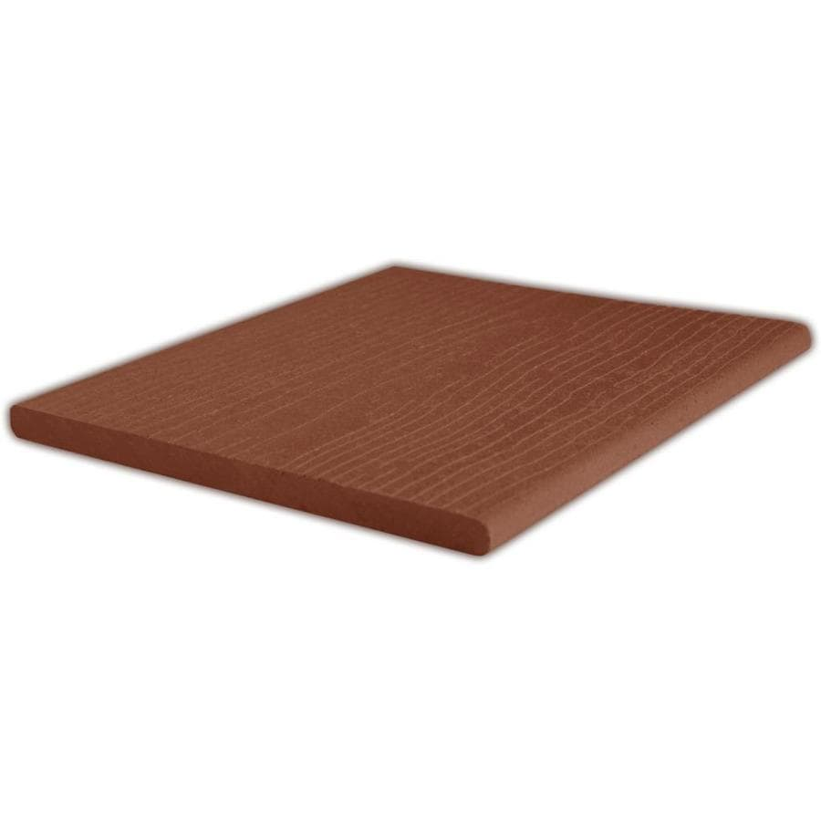 ChoiceDek (Actual: 0.67-in x 11.25-in x 12-ft) Foundations Coastal Red Square Composite Deck Board