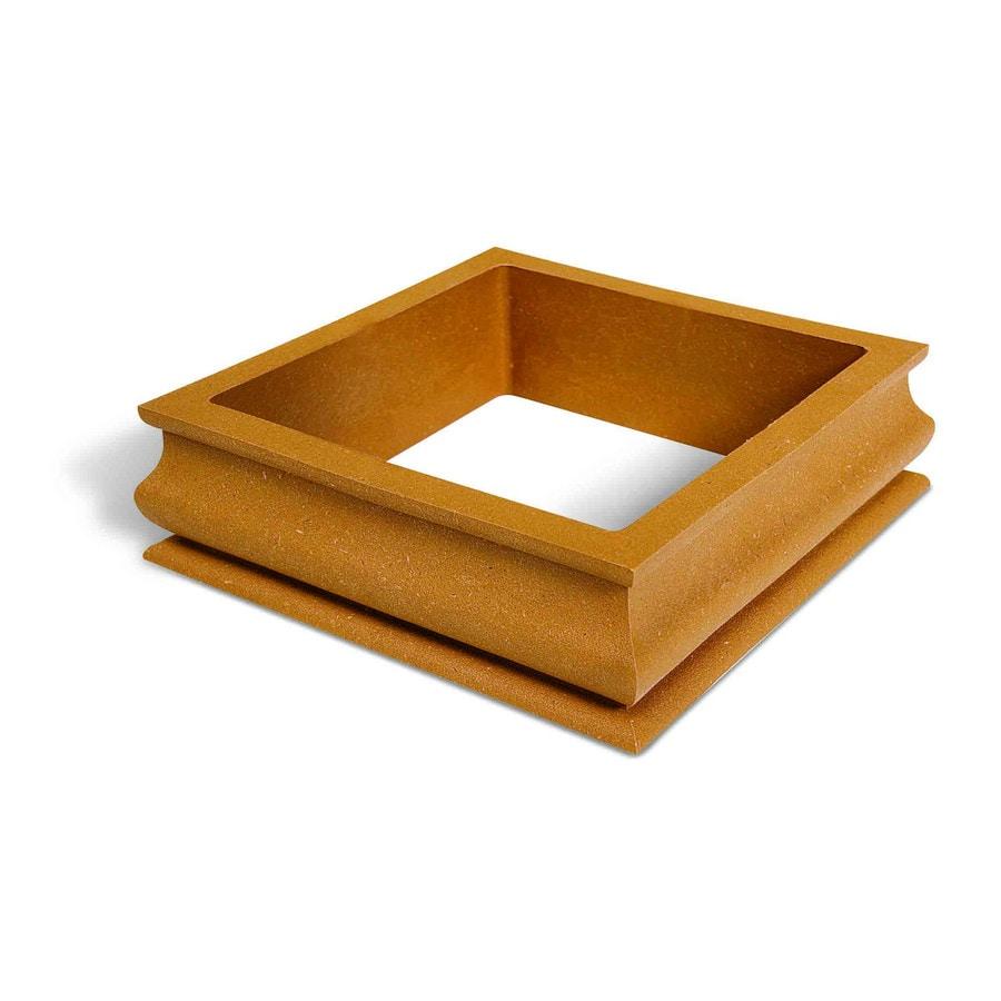 MoistureShield Rustic Cedar Composite Deck Post Cap Collar
