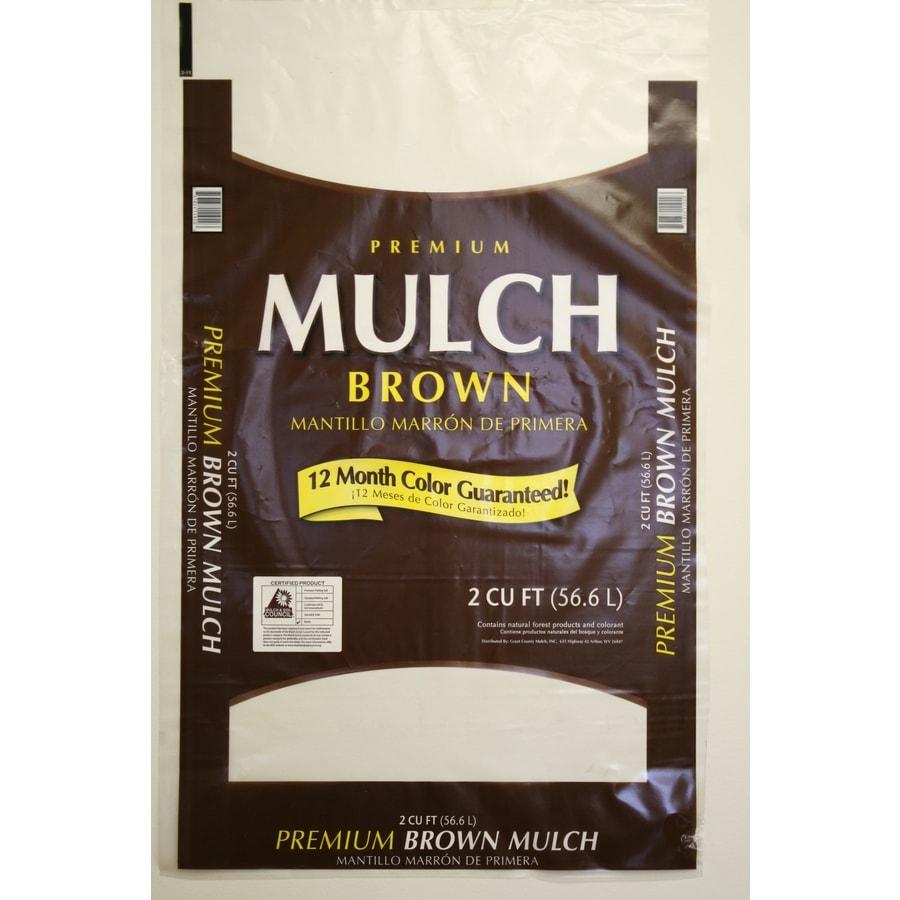 2 Cu. Ft. Premium Brown Mulch at Lowes.com