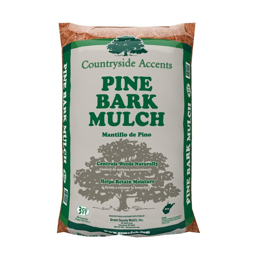 3-cu ft Brown Pine Bark Mulch