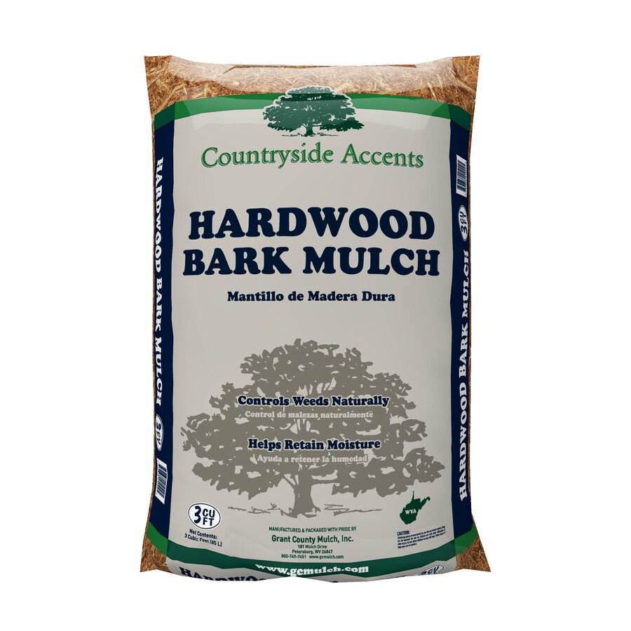 3-cu ft Brown Hardwood Bark Mulch