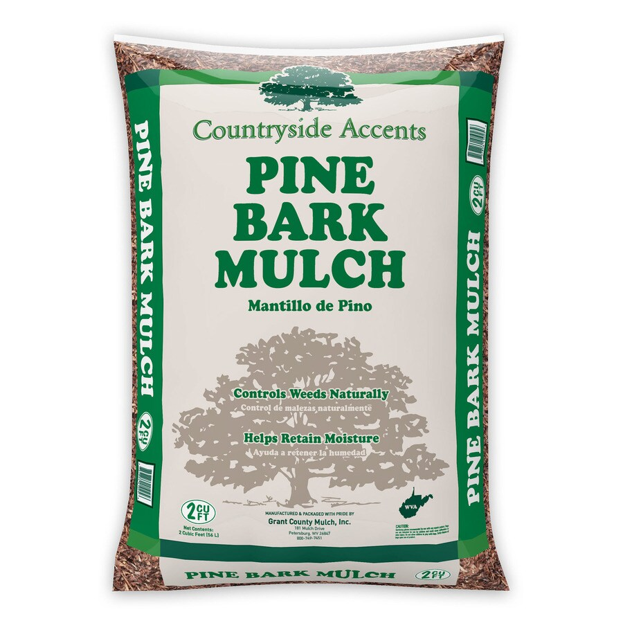 2-cu ft Brown Pine Bark Mulch