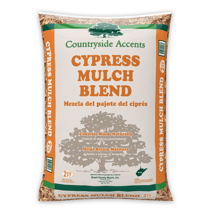 2-cu ft Gold Cypress Blend Mulch