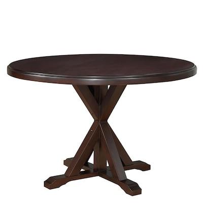 Sensational Monet Espresso Wood Round Dining Table Evergreenethics Interior Chair Design Evergreenethicsorg