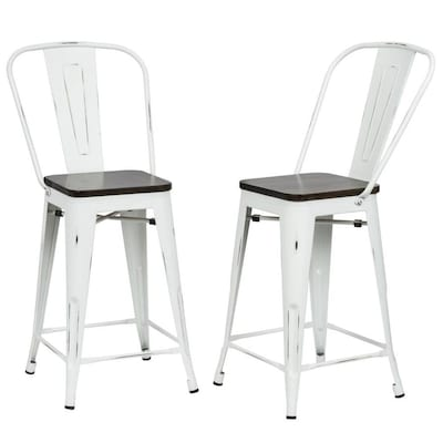 Cool Carolina Cottage Ashton Set Of 2 White Elm Counter Stool At Frankydiablos Diy Chair Ideas Frankydiabloscom