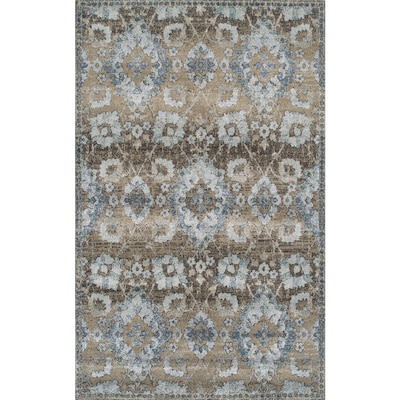 Brown Indoor French Country Area Rug