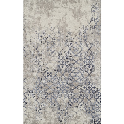 Navy Indoor Farmhouse Cottage Area Rug