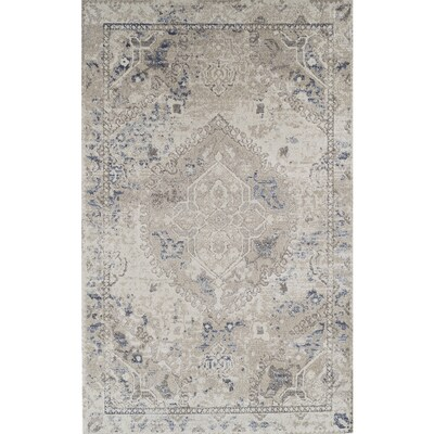 Beige Indoor Farmhouse Cottage Area Rug
