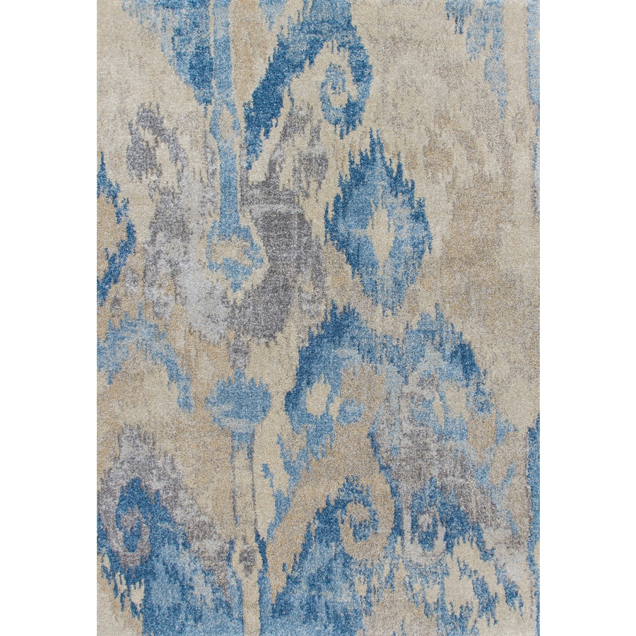 Addison Rugs Tobin 8 X 11 Blue Indoor Ikat Bohemian Eclectic Area Rug In The Rugs Department At Lowes Com