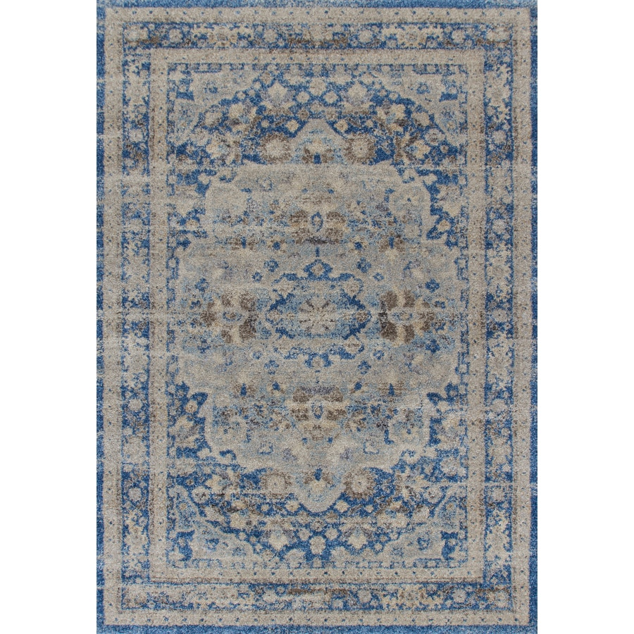 Addison Rugs Tobin 3 X 5 Blue Indoor Distressed Overdyed Vintage Area Rug In The Rugs Department At Lowes Com