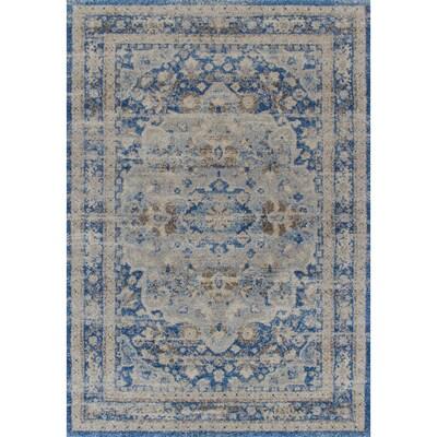 Addison Rugs Tobin Blue Indoor Vintage