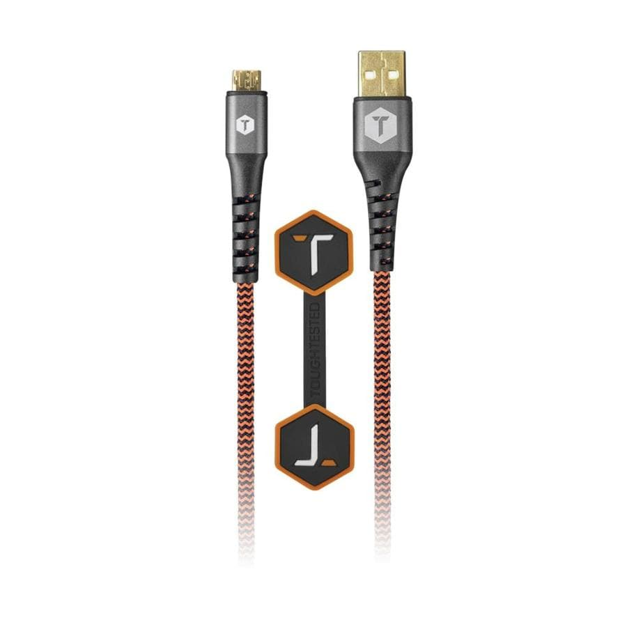 Tough Tested 6-ft 2.0 USB A Male / USB Micro-B Male Cable