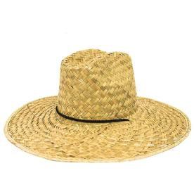 34e9b51ce43a6 OLE One Size Fits Most Unisex Natural Straw Wide-Brim Hat