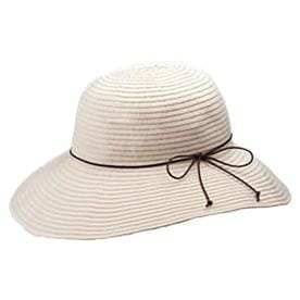 fe760eabc1118 OLE One Size Fits Most Women s Ivory Polyester Wide-Brim Hat