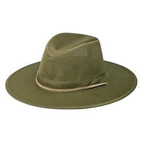 OLE One Size Fits Most Men s Olive Cotton Wide-Brim Hat 6a21c6778e86