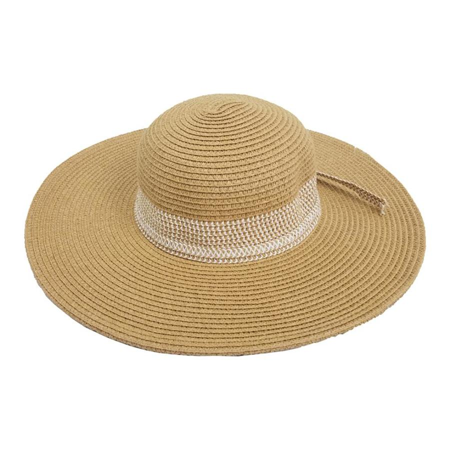 bace0f8899b OLE One Size Fits Most Women s Khaki Natural Fiber Wide-Brim Hat