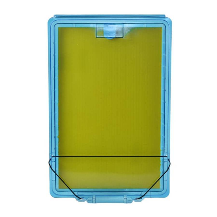 10-in x 16-1/2-in x 1-1/8-in Transparent Blue Permit Box