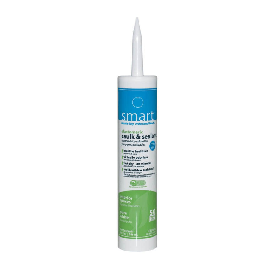 SMART 10-oz White Paintable Latex Window and Door Caulk
