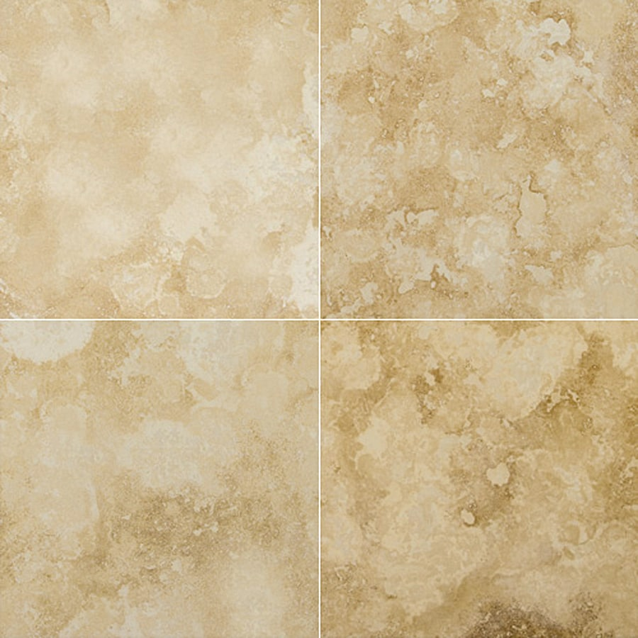 Emser Pendio Beige Travertine Floor and Wall Tile (Common: 18-in x 18-in; Actual: 18-in x 18-in)