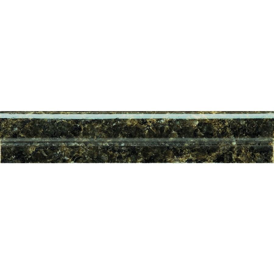 """Emser 12"""" x 2"""" Ubatuba Green Granite Tile"""