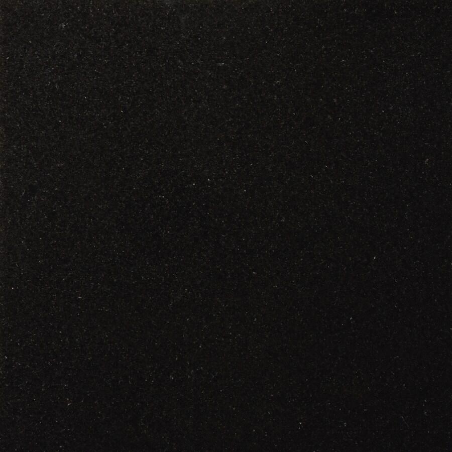 Emser 5-Pack 18-in x 18-in Black Polished Natural Granite Floor Tile