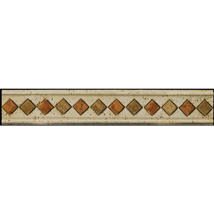 Emser 2-in x 12-in Romansa Lares Beige Moulding Natural Travertine Wall Tile