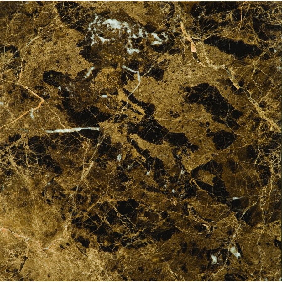 Emser 5-Pack Marrone Emperador Dark Marble Floor and Wall Tile (Common: 18-in x 18-in; Actual: 18-in x 18-in)