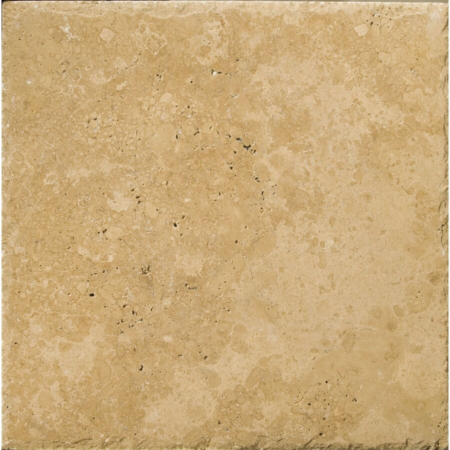 Emser 8-in x 8-in Noce Chiseled and Unfilled Natural Travertine Floor Tile