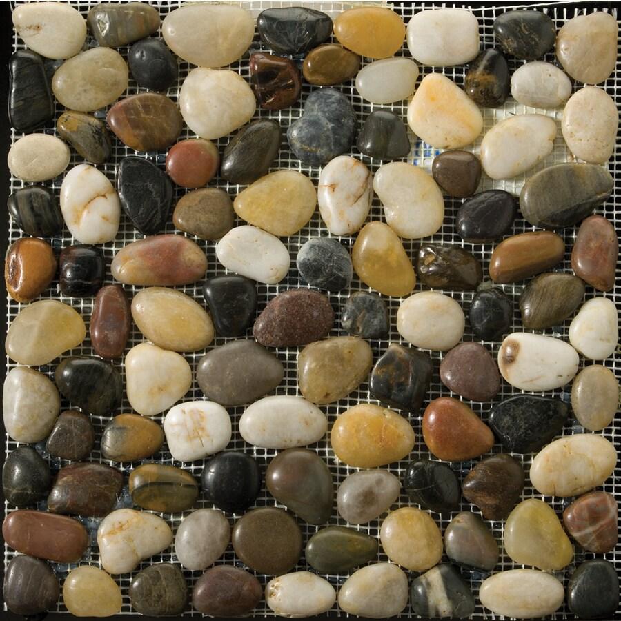 Emser 12-in x 12-in 4-Color Mosaic Indoor/Outdoor Natural Floor Tile