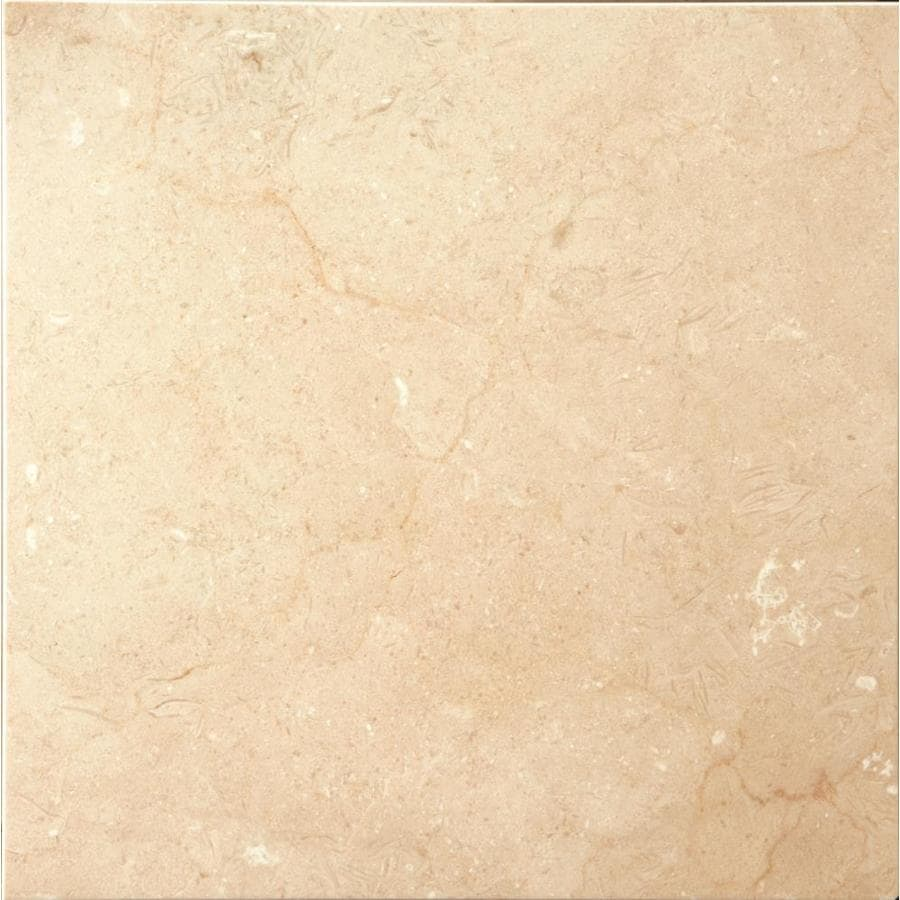 Shop Emser Crema Marfil Plus Marble Floor And Wall Tile Common 18 In X 18 In Actual 18 In X