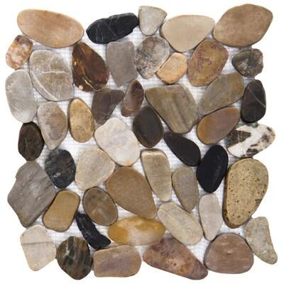Emser Flat Rivera Pebble 10 Pack 4 Color Blend Natural Stone