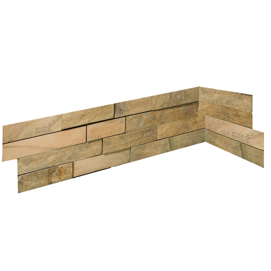 Emser 6-in x 27-in Rustic Gold Natural Slate Wall Tile