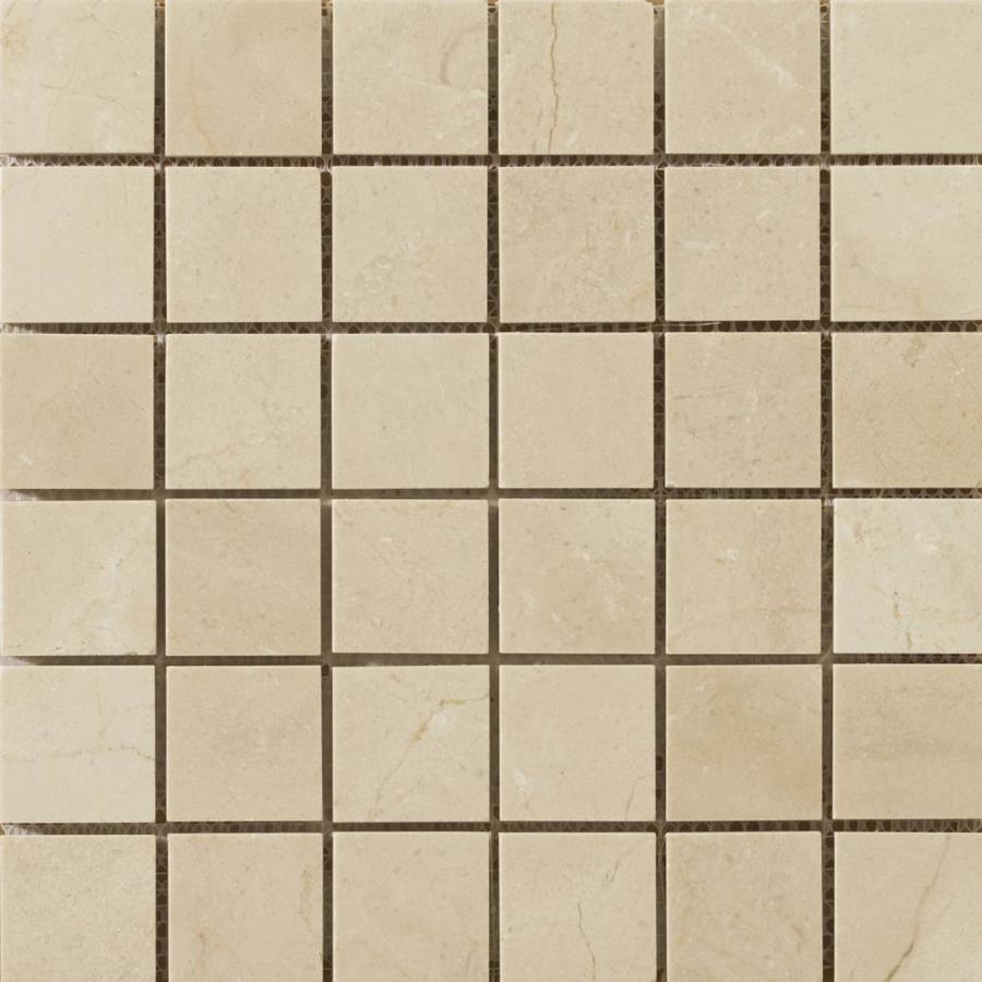Emser Crema Marfil Classico Marble Border Tile (Common: 12-in x 12-in; Actual: 12-in x 12-in)