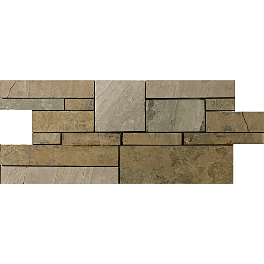 Emser Rustic Gold Slate Border Tile (Common: 7-in x 20-in; Actual: 17.5-in x 6.75-in)