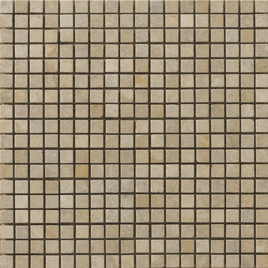 Emser 12-in x 12-in Vino Tumbled Natural Travertine Wall and Floor Tile