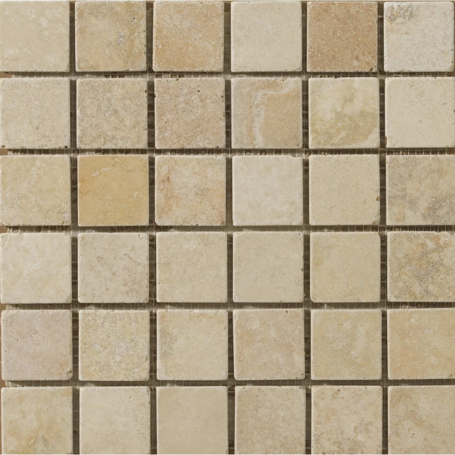 Emser 12-in x 12-in Vino Tumbled Natural Travertine Floor Tile