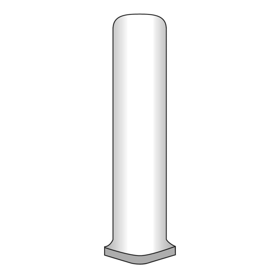 Emser BOMBAY Salsette Porcelain Cove Corner Tile (Common: 1-in x 6-in; Actual: 1-in x 6-in)