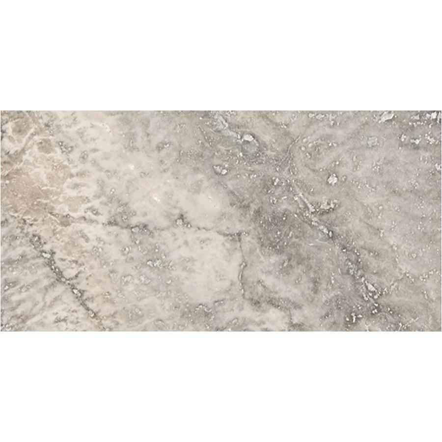 Emser TRAV ANCIENT TUMBLED Silver Travertine Floor and Wall Tile (Common: 8-in x 16-in; Actual: 7.91-in x 15.98-in)