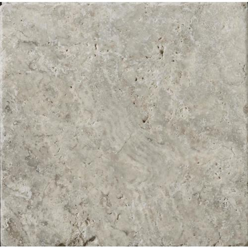 Emser Trav Ancient Tumbled Silver 4 In X 4 In Travertine