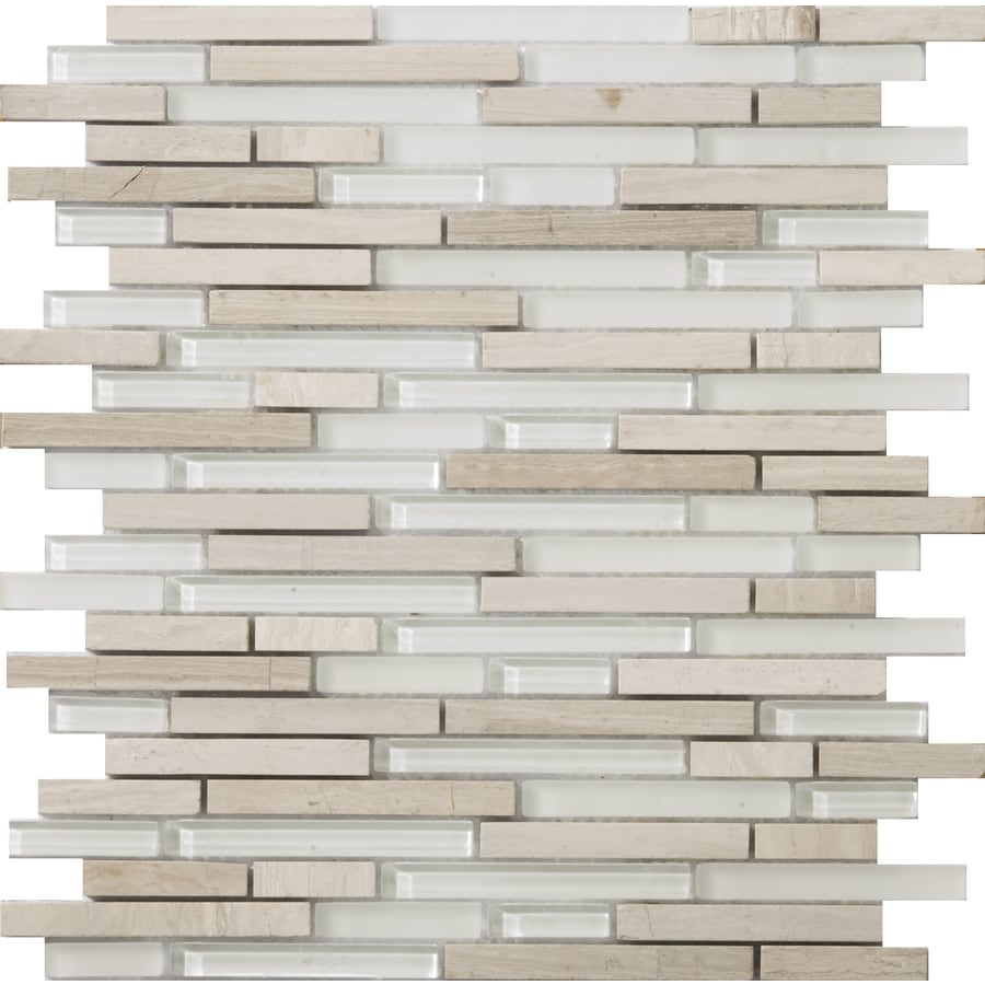 Emser Lucente andrea Mixed Material Mosaic Wall Tile (Common: 12-in x 12-in; Actual: 13.14-in x 13.38-in)