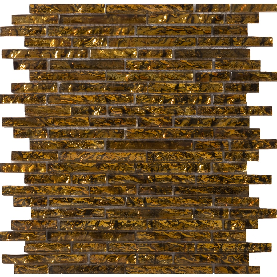Emser Vista Venini Glass Wall Tile (Common: 12-in x 12-in; Actual: 13.14-in x 13.38-in)