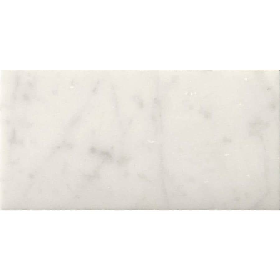 Emser BIANCO GIOIA 40-Pack Bianco Gioia Nantes Marble Floor and Wall Tile (Common: 3-in x 6-in; Actual: 6-in x 3-in)