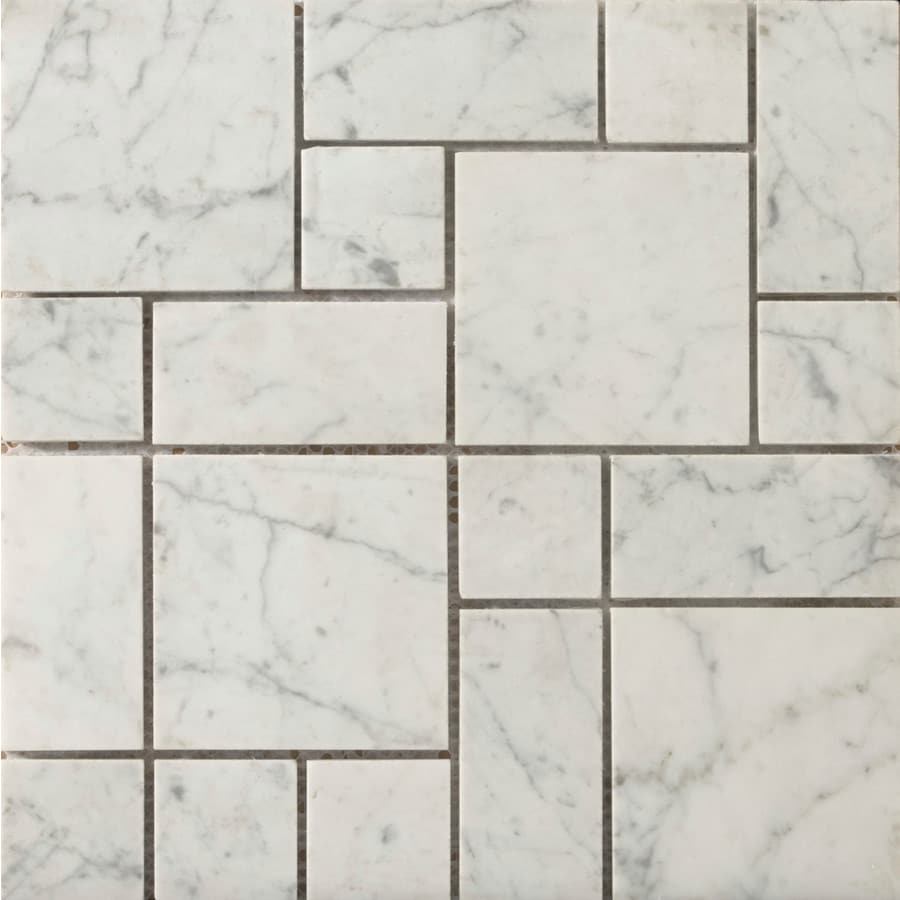 Emser Marble Bianco Gioia Nantes Border Tile (Common: 12-in x 12-in; Actual: 12-in x 12-in)