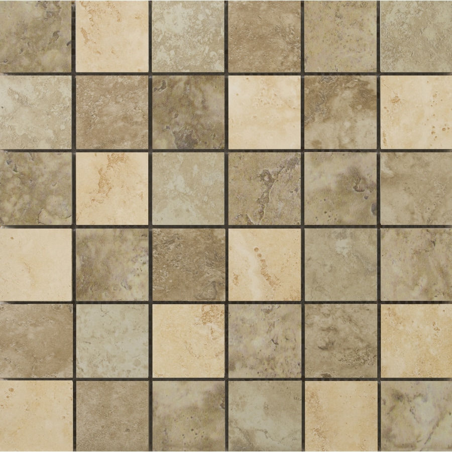 Emser Lucerne Mosaic Blend Uniform Squares Mosaic Porcelain Floor and Wall Tile (Common: 13-in x 13-in; Actual: 13-in x 13-in)